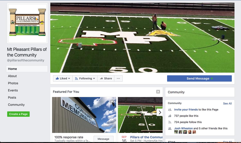 Mt Pleasant Pillars of the Community Facebook